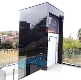 Trabajo de ascensor en Donostia realizado por Cristalería EPI