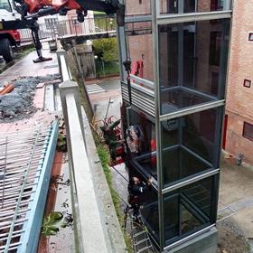 Trabajo de ascensor en Oiartzun realizado por Cristalería EPI